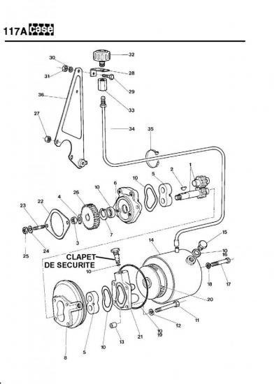 117a. pompe hydrostatique CASE 580G et 580F