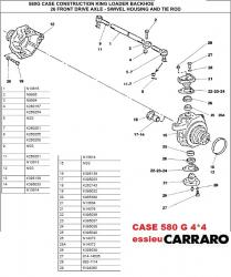 CASE 580G ESSIEU CARRARO